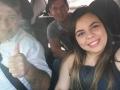 Santana e parte da família a caminho.