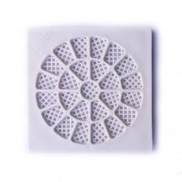 Tampa Filtro Branca Quadrada 100 mm